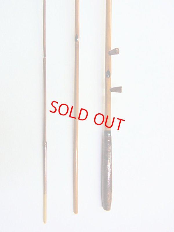 画像2: ベストフィッシングオリジナル タナゴ用中通し竿3本継ぎ 総矢竹 透き塗り