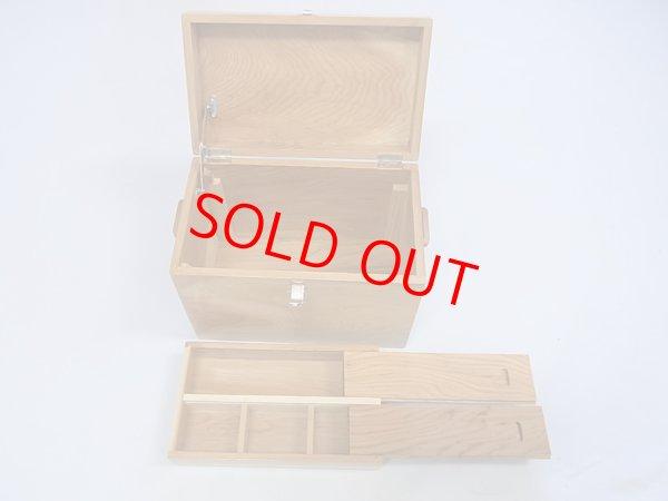 画像3: 感謝価格 50%引き! 国産杉材使用 合切箱 鏡面仕上げ なかごスライド開閉  ベルト付き