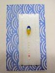 画像1: 手作りバラタナゴ釣り用 極小彩真ん中通し仕掛け ライングラデーション藍黄 (1)