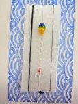 画像1: 新作黒糸使用 手作りバラタナゴ釣り用 極小彩真ん中通し仕掛け ライングラデーション藍黄 山吹 (1)