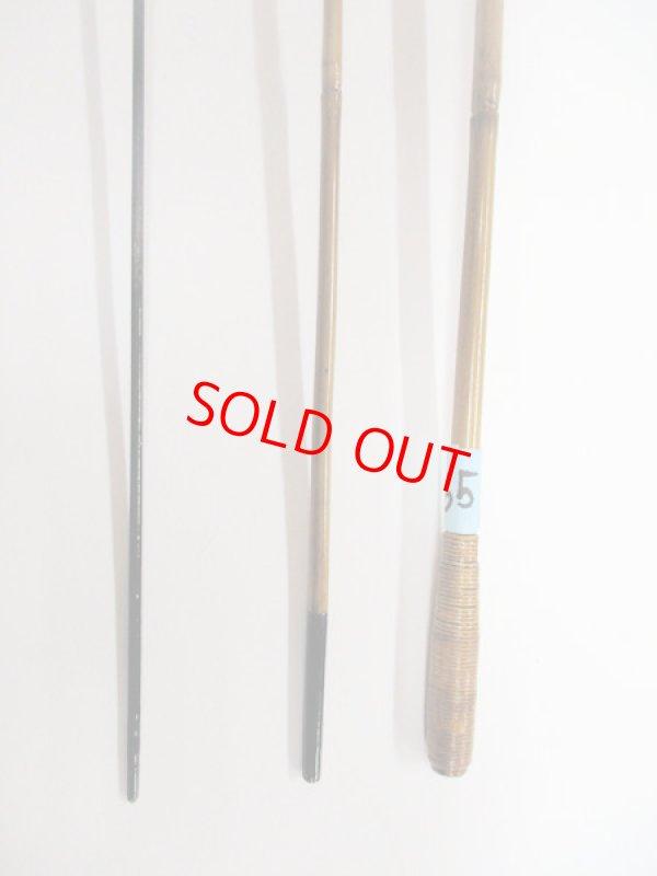 画像3: 感謝価格!オリジナルタナゴ竿 矢竹 本漆 藤巻握り 3本継 真竹削り穂 全長約55センチ