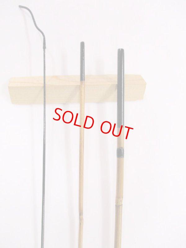 画像2: 感謝価格!オリジナルタナゴ竿 矢竹 本漆 藤巻握り 3本継 真竹削り穂 全長約60センチ