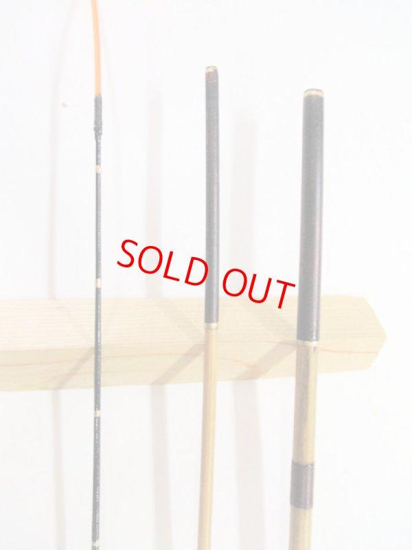 画像2: 感謝価格!オリジナルタナゴ竿 矢竹 本漆 3本継 真竹削り穂 全長約60,3センチ