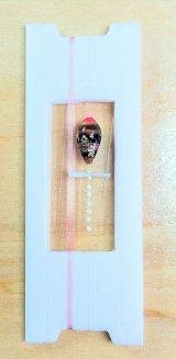 新作ポン太工房超軽量オリジナルプロペラ超高感度極小中通し浮きタナゴ仕掛け  蛍光ピンク×茶系グラデーション モノスレッドSブラウン