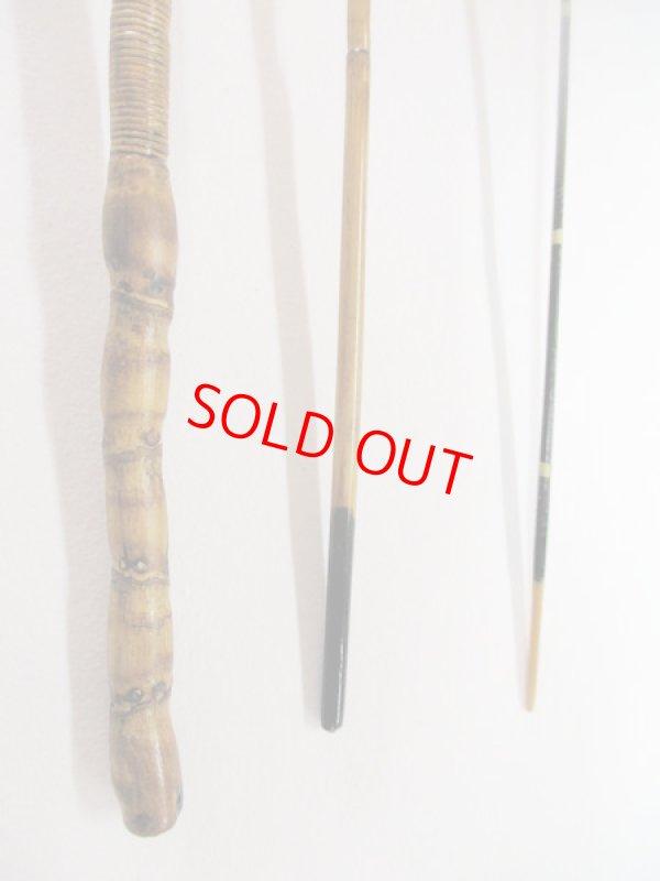 画像3: 感謝価格!オリジナルタナゴ竿 矢竹 藤巻 本漆 3本継 真竹削り穂 全長約40,3センチ