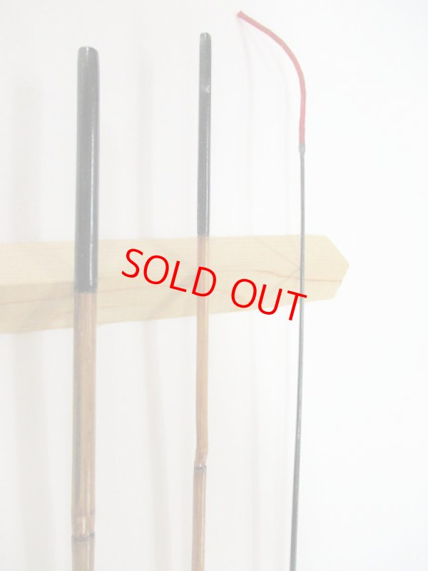画像2: 感謝価格!オリジナルタナゴ竿 矢竹 藤巻 本漆 3本継 真竹削り穂 全長約65センチ
