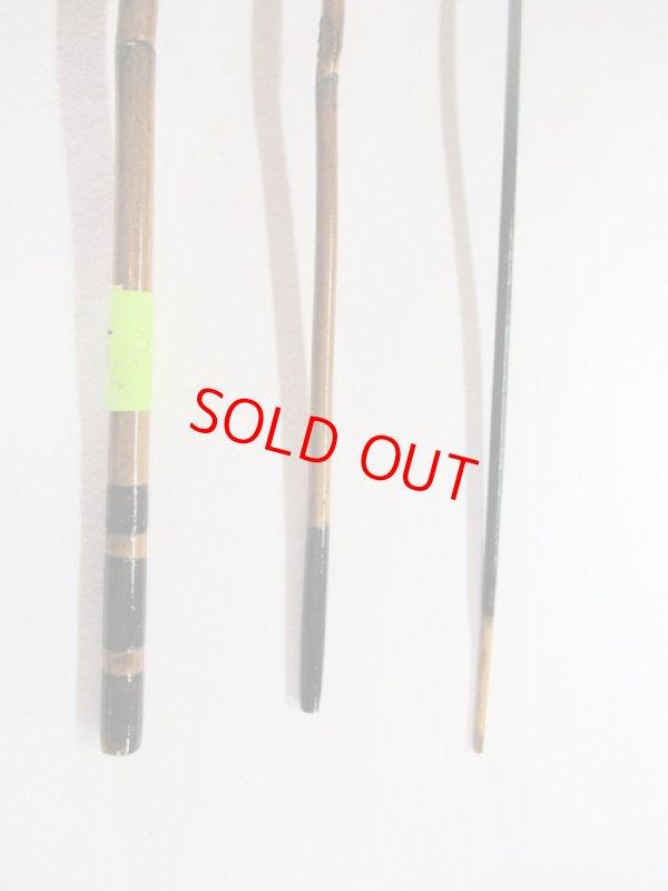 画像3: 感謝価格!オリジナルタナゴ竿 矢竹 本漆 3本継 真竹削り穂 全長約55センチ