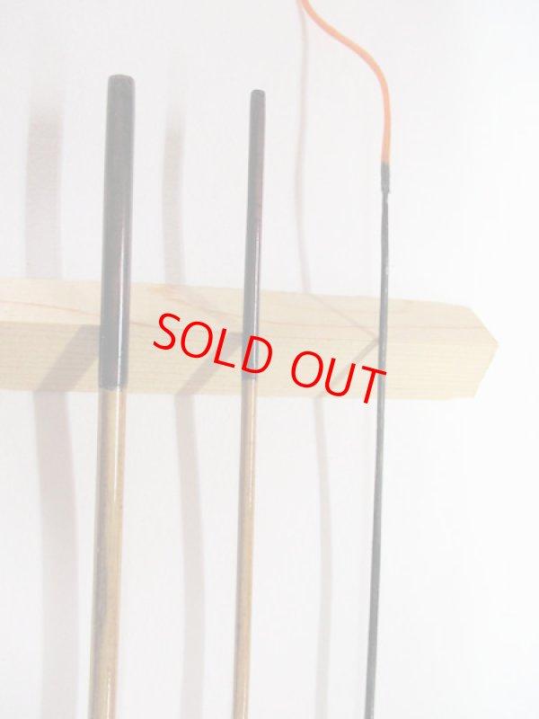 画像2: 感謝価格!オリジナルタナゴ竿 矢竹 本漆 3本継 真竹削り穂 全長約55センチ