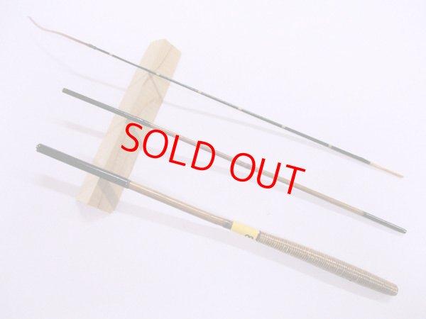画像1: 感謝価格!オリジナルタナゴ竿 矢竹 本漆 3本継 真竹削り穂 藤巻握り 全長約50センチ