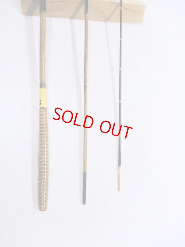 画像3: 感謝価格!オリジナルタナゴ竿 矢竹 本漆 3本継 真竹削り穂 藤巻握り 全長約50センチ