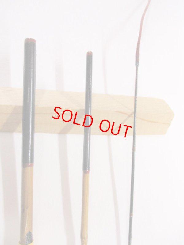 画像2: 感謝価格!オリジナルタナゴ竿 矢竹 本漆 3本継 真竹削り穂 全長約45センチ