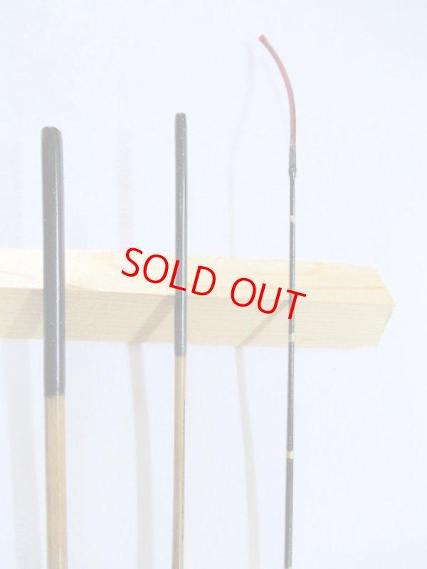 画像2: 感謝価格!オリジナルタナゴ竿 矢竹 本漆 3本継 真竹削り穂 藤巻握り 全長約50センチ