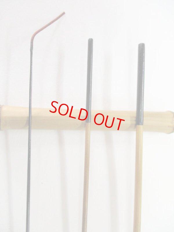 画像2: 感謝価格!オリジナルタナゴ竿 矢竹 本漆 3本継 真竹削り穂  全長約60センチ