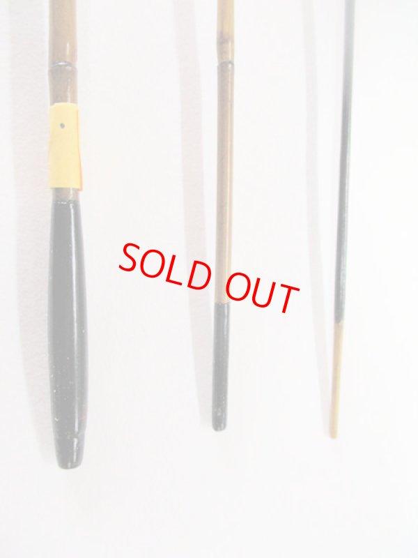 画像3: 感謝価格!オリジナルタナゴ竿 矢竹 本漆 3本継 真竹削り穂  全長約50センチ