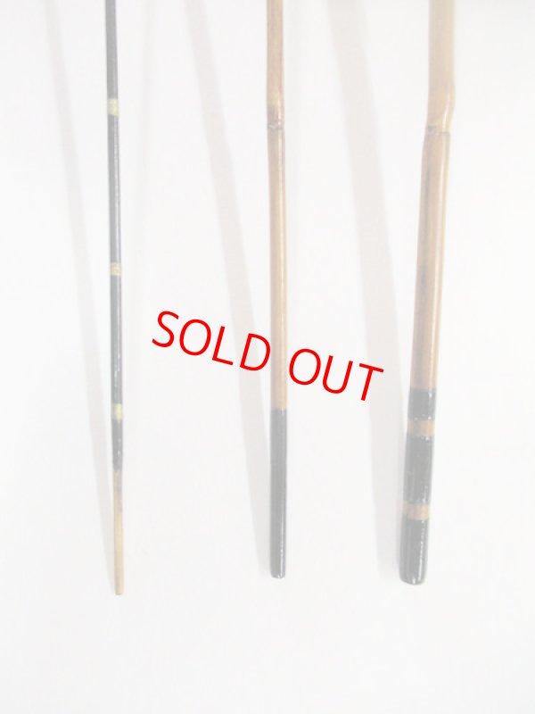 画像3: 感謝価格!オリジナルタナゴ竿 矢竹 本漆 3本継 真竹削り穂 全長約40センチ