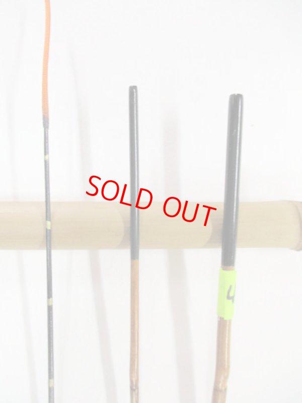 画像2: 感謝価格!オリジナルタナゴ竿 矢竹 本漆 3本継 真竹削り穂 全長約40センチ