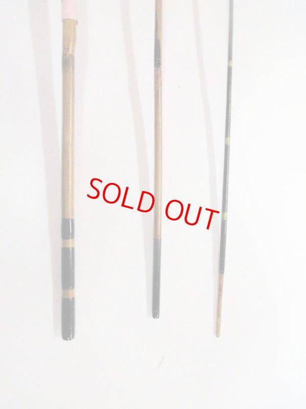 画像3: 感謝価格!オリジナルタナゴ竿 矢竹 本漆 3本継 真竹削り穂 全長約45センチ