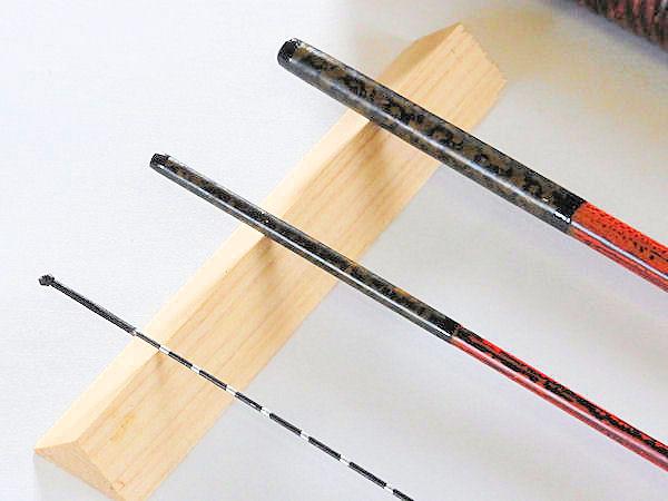画像2: 50%OFF!たなご屋制作タナゴ、小鮒用和竿(矢竹) 真竹削り穂 3本継 竿ケース付
