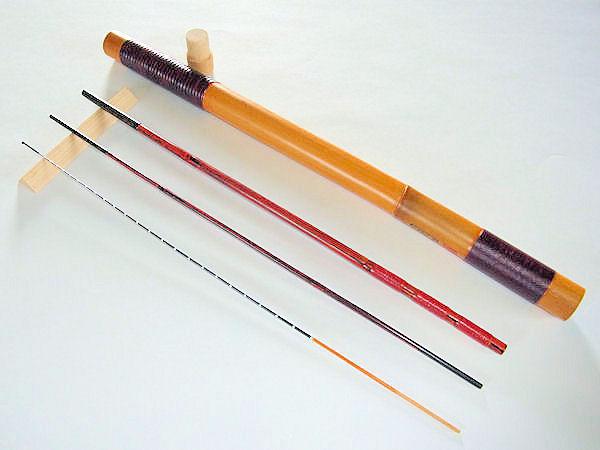 画像1: 50%OFF!たなご屋制作タナゴ、小鮒用和竿(矢竹) 真竹削り穂 3本継 竿ケース付