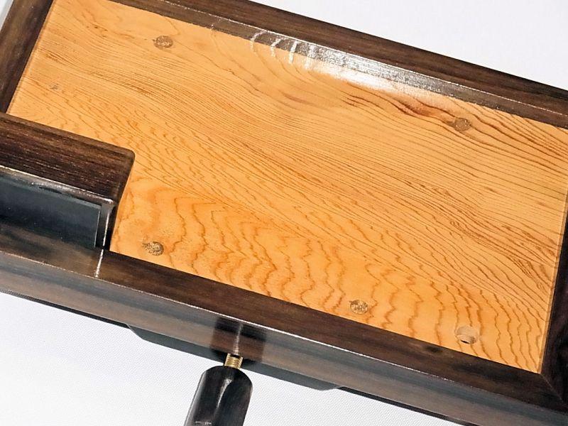 画像3: ヘラブナ釣り用手作りお膳 シャム柿回し 屋久杉作り