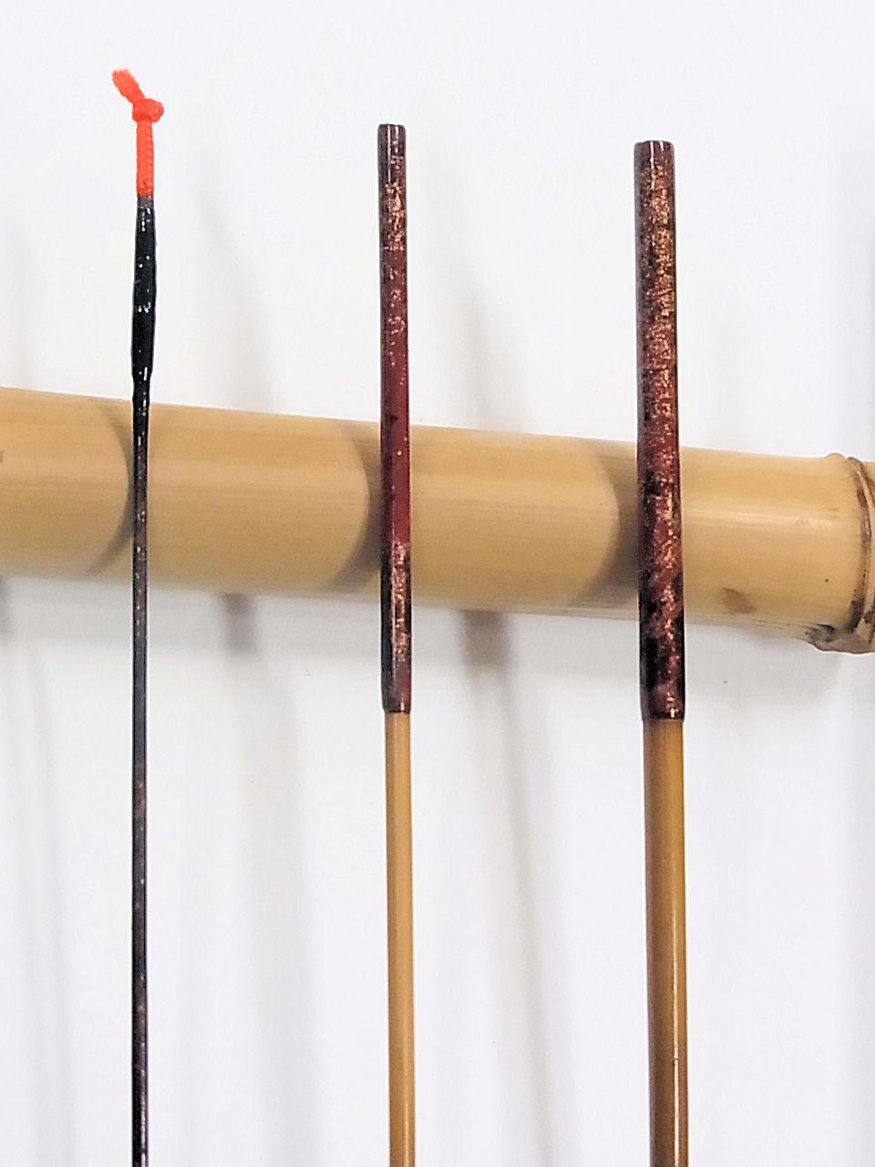 画像2: 新作 竿昭作 たなご竿 本赤銀粉研ぎ出し  三本継ぎ 一尺七寸