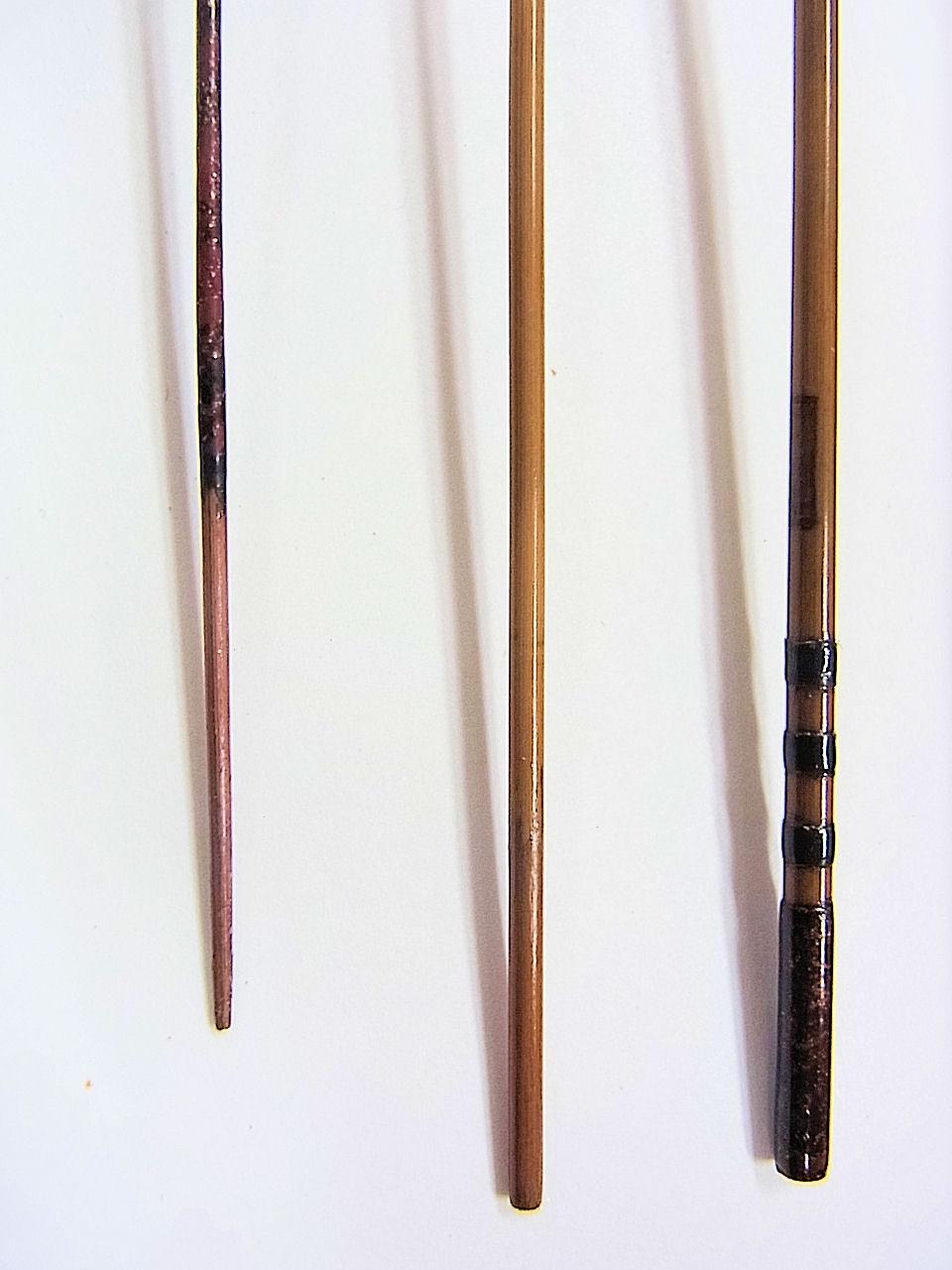 画像3: 新作 竿昭作 たなご竿 本赤銀粉研ぎ出し  三本継ぎ 一尺七寸