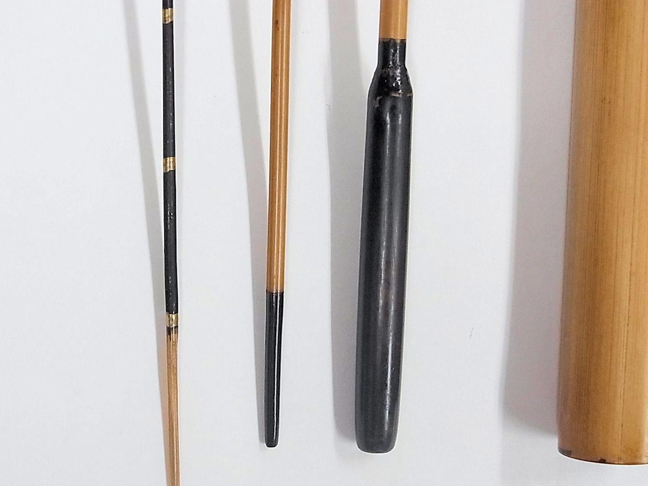 画像3: 感謝価格!小継ぎタナゴ釣り用和竿 矢竹 並継 三本継ぎ 50センチ
