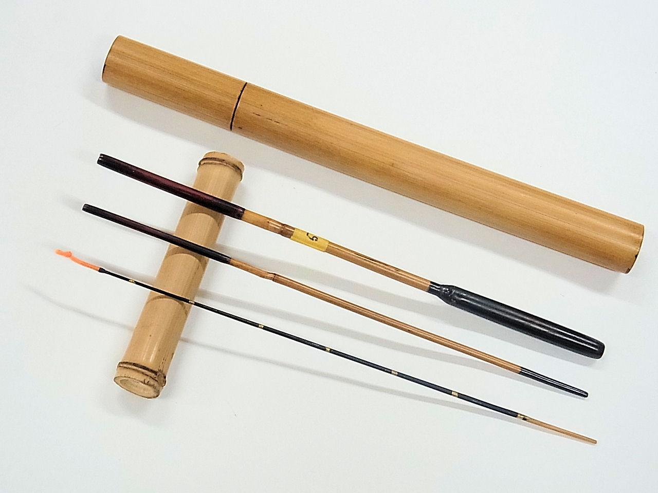 画像1: 感謝価格!小継ぎタナゴ釣り用和竿 矢竹 並継 三本継ぎ 50センチ