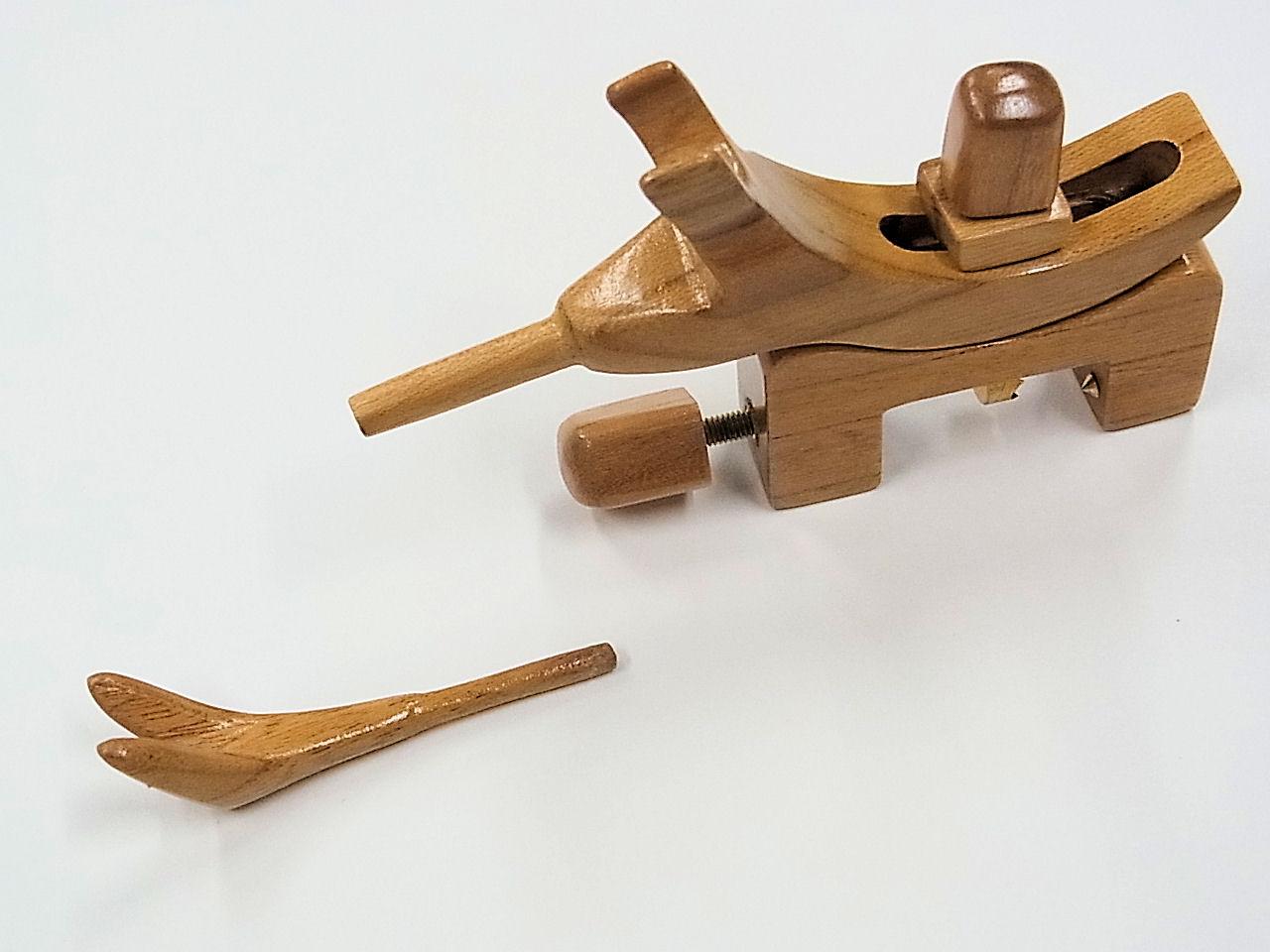 画像2: 感謝価格!タナゴ、小鮒用 欅材使用万力 欅材使用先受け付き