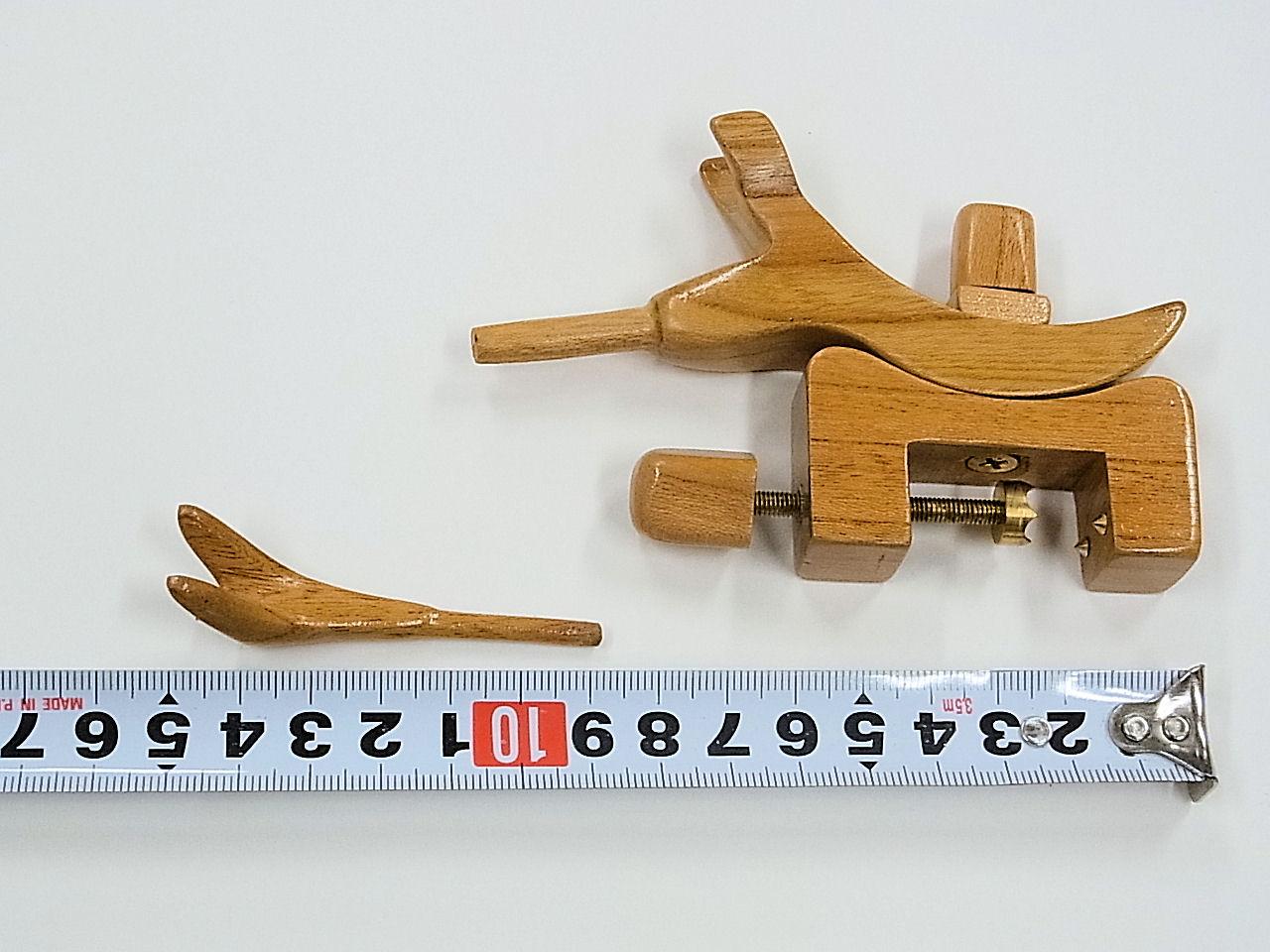 画像3: 感謝価格!タナゴ、小鮒用 欅材使用万力 欅材使用先受け付き