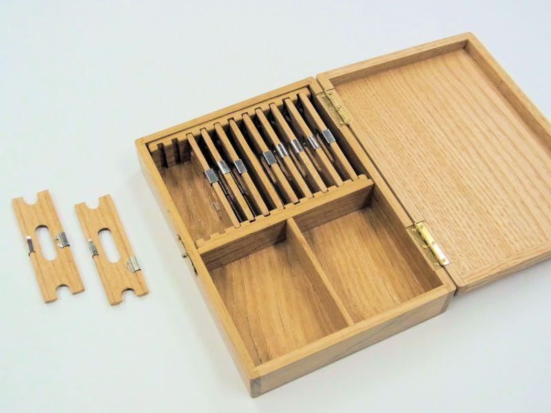 画像3: 栗材使用 仕掛け小物入れ 大 片面自在間仕切り 栗製仕掛け巻き大10個付き