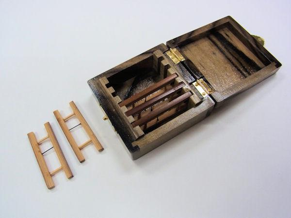 画像3: 総黒柿材使用 仕掛け入れ  煤竹仕掛け巻き5本入り