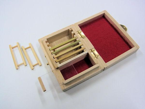 画像4: ポン太工房制作 新作オリジナル仕掛け箱 スライド小物入れ付き 無塗装