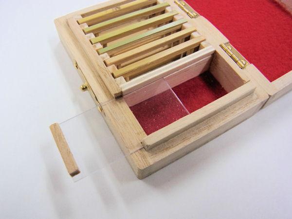 画像3: ポン太工房制作 新作オリジナル仕掛け箱 スライド小物入れ付き 無塗装