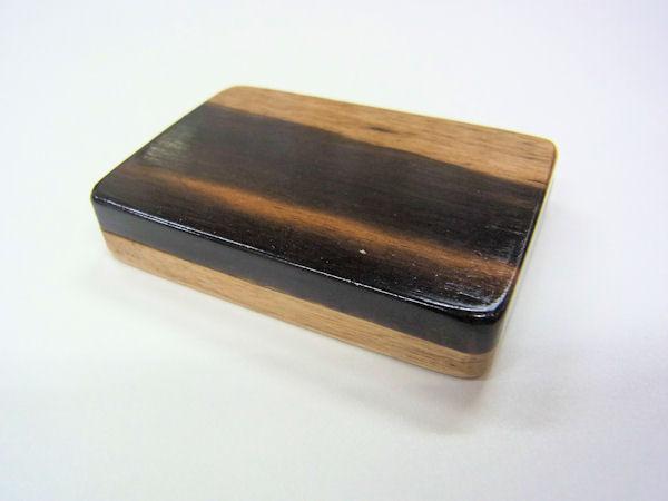 画像1: 総黒柿材使用 タナゴ用針ケース