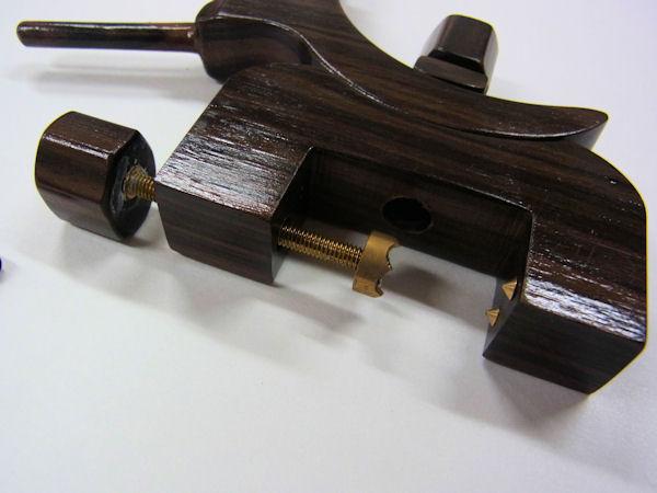 画像3: タナゴ、小鮒用 黒檀材使用万力 大  黒檀材使用先受け付き 真鍮金具