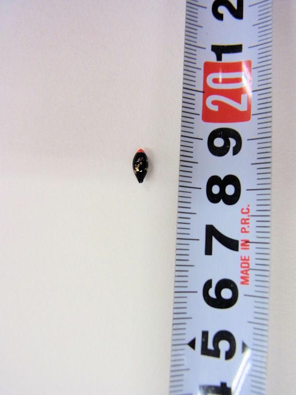 画像2: ベストフィッシング オリジナル!メダカ釣り用超極小真ん中通し浮き 黒金 山吹