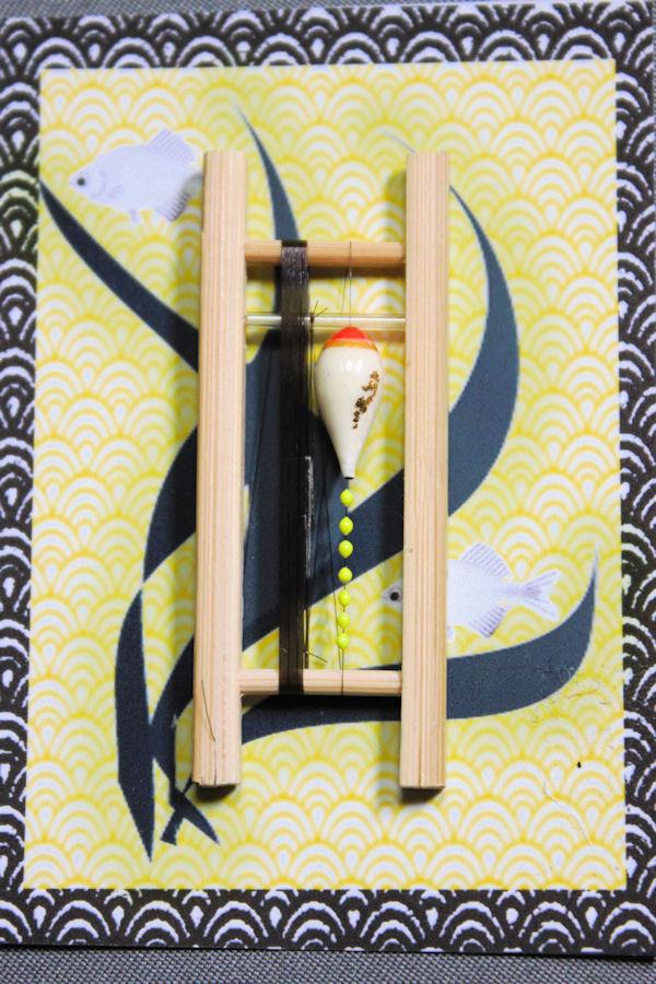 画像1: ポン太工房 カネヒラ(新仔)用すぐ釣りセット シモリ蛍光イエロー