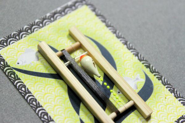 画像2: ポン太工房 カネヒラ(新仔)用すぐ釣りセット シモリ蛍光イエロー