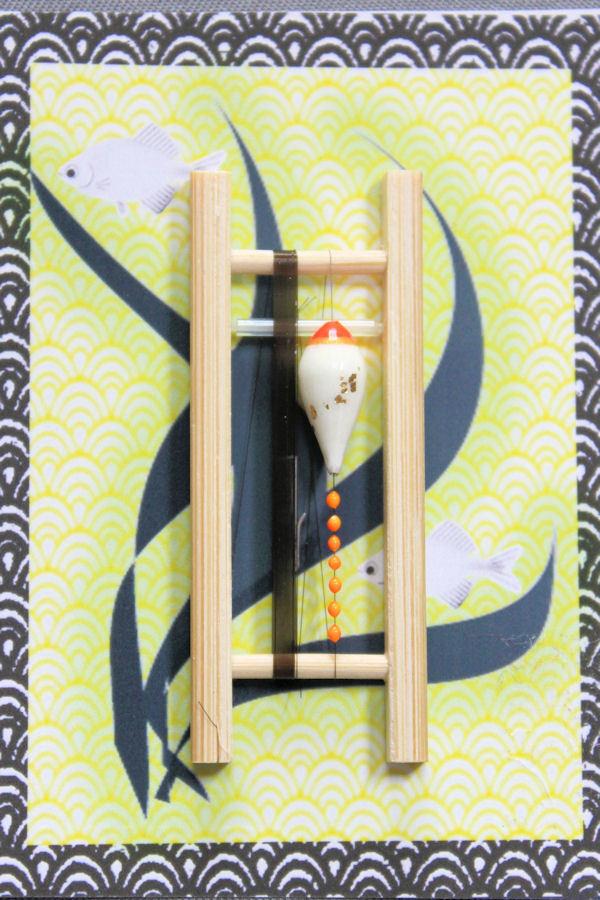 画像1: ポン太工房 カネヒラ(新仔)用すぐ釣りセット シモリ蛍光オレンジ