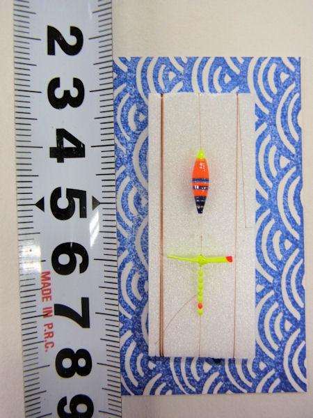 画像3: 手作りタナゴ釣り用 極小彩浮きプロペラ真ん中通し仕掛け 橙ベース モノスレッドSブラウン使用