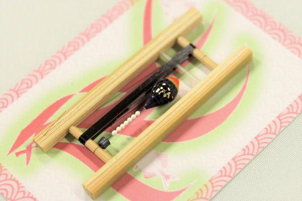 画像2: 19春モデル ポン太工房 中通し仕掛け(すぐ釣りセット):トップ蛍光赤×紫マーブル