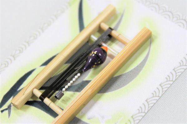 画像2: 19春モデル ポン太工房 中通し仕掛け(すぐ釣りセット):トップ蛍光オレンジ×紫マーブル