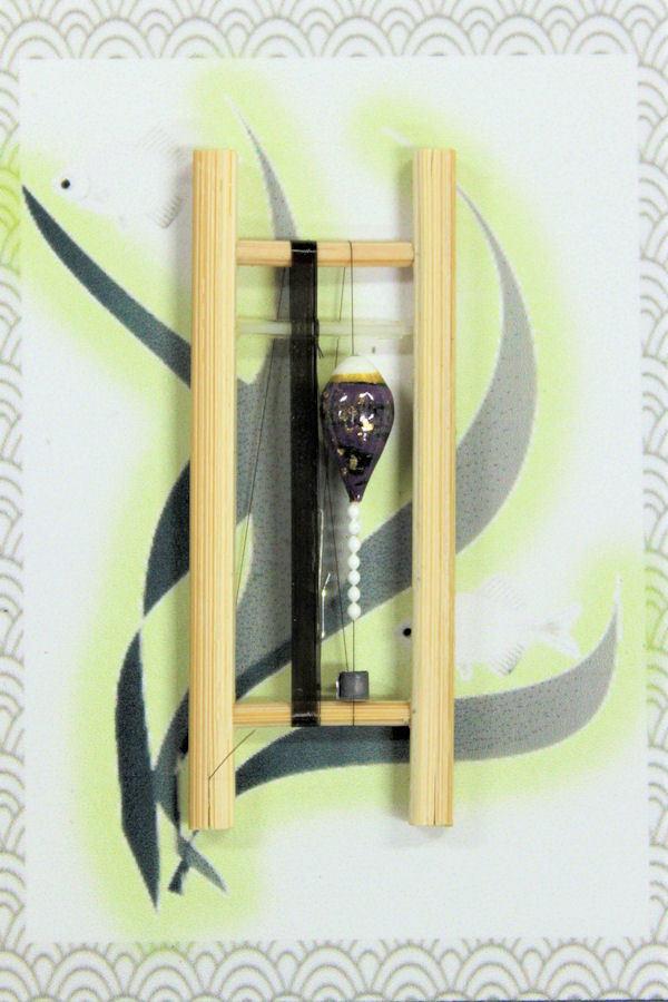 画像1: 19春モデル ポン太工房 中通し仕掛け(すぐ釣りセット):トップ白×紫マーブル