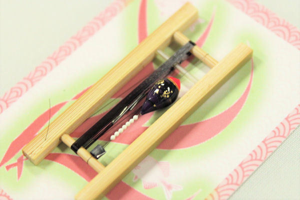 画像2: 19春モデル ポン太工房 中通し仕掛け(すぐ釣りセット):トップ蛍光ピンク×紫マーブル
