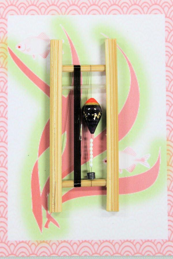 画像1: 19春モデル ポン太工房 中通し仕掛け(すぐ釣りセット):トップ蛍光赤×紫マーブル