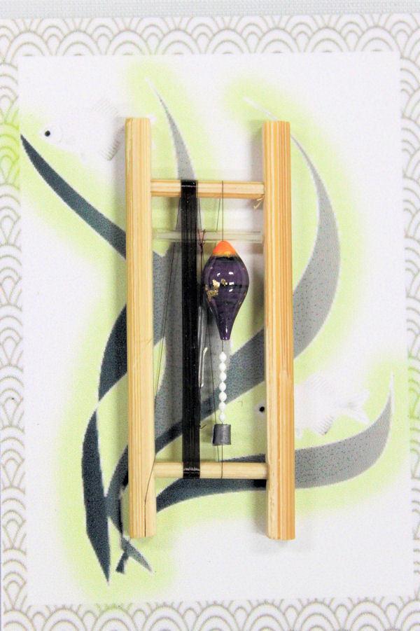 画像1: 19春モデル ポン太工房 中通し仕掛け(すぐ釣りセット):トップ蛍光オレンジ×紫マーブル
