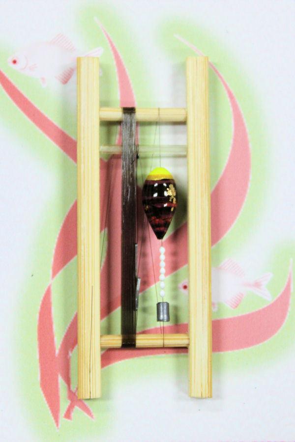 画像1: 19春モデル ポン太工房 中通し仕掛け(すぐ釣りセット)山吹バージョン:トップ蛍光黄×茶マーブル