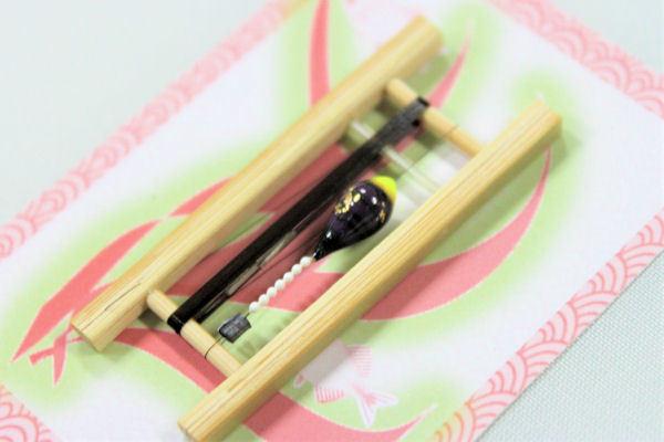 画像2: 19春モデル ポン太工房 中通し仕掛け(すぐ釣りセット):トップ蛍光黄×紫マーブル