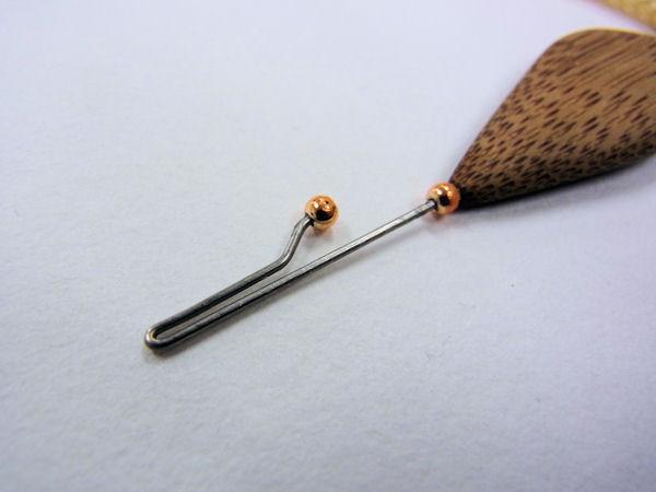 画像2: ベストフィッシング 手作りタナゴ用針外し(煤竹使用) 持ち手平形